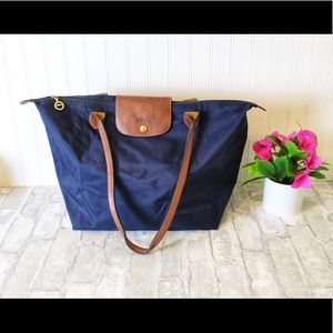 - Longchamp Navy large tote